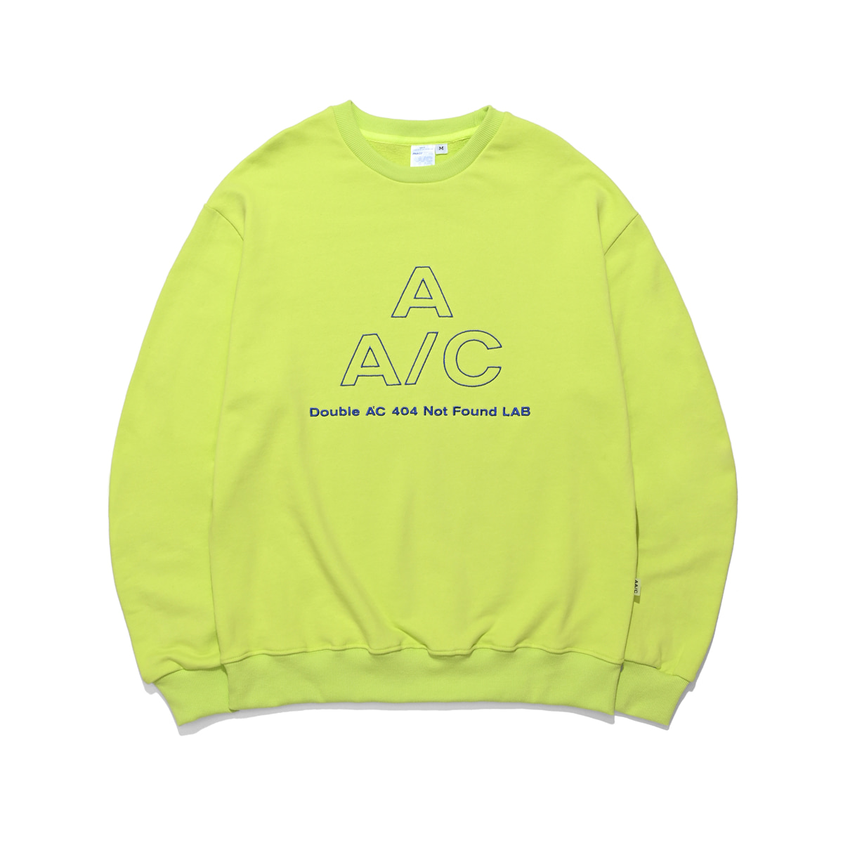 EMBROIDERED LOGO CREWNECK (neon)